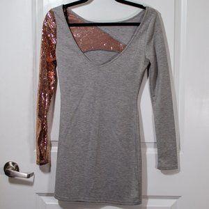 Kardashian Kollection Sequin Long Sleeve Dress S